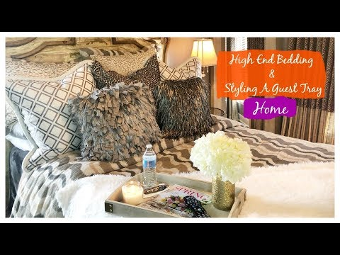High End Bedding & Styling A Guest Tray | The2Orchids