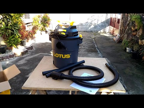 Lotus LT18128B Wet/Dry Vacuum from Lazada Unboxing, Demo & Review