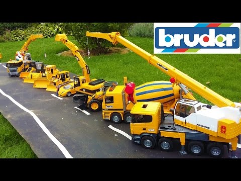 BRUDER TOYS BEST OF 2016 - trucks, tractors, excavators for kids!