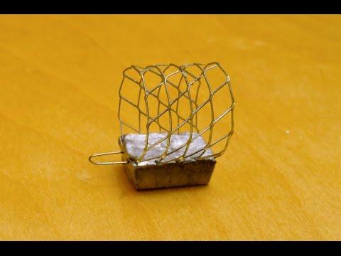 Как сделать кормушку из сетки для ловли рыбы