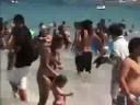 Zima na plaży - flash mob