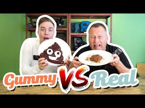 Video GUMMY FOOD VS REAL FOOD CHALLENGE download in MP3, 3GP, MP4, WEBM, AVI, FLV January 2017