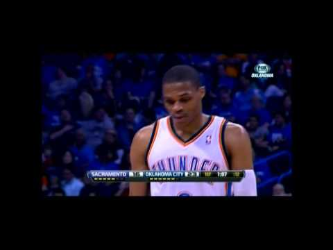 Thunder lock up 60 wins and the top seed,104-95 over the Kings
