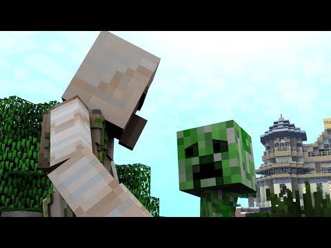 Monster School (Preschool) - Climbing / First Day (Minecraft Animation)