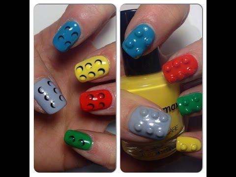 nail art - effetto lego