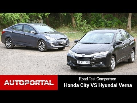 Honda city vs hyundai verna road test comparison for Motor city road test