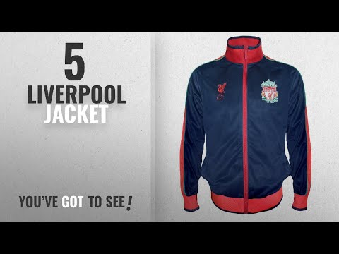 Top 10 Liverpool Jacket [2018]: Liverpool FC Official Football Gift Mens Retro Track Top Jacket