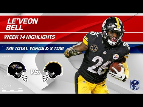 Video: Le'Veon Bell Breaks Out w/ 3 TDs & 125 Total Yards! | Ravens vs. Steelers | Wk 14 Player HLs