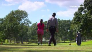 A caddie is not allowed to stand on a line behind a player while the player is taking his or her stance and until stroke is made. To learn more about Moderni...
