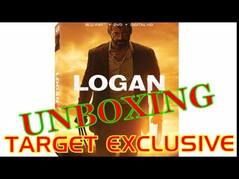 LOGAN - BLU RAY UNBOXING (Target Exclusive Full Book Reveal)