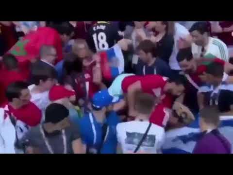 Coupe du monde: Des supporters marocains s'emparent violemment d'un drapeau israélien