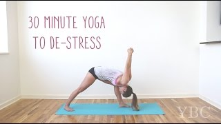 Video 30 Minute Yoga to De-stress MP3, 3GP, MP4, WEBM, AVI, FLV Maret 2018