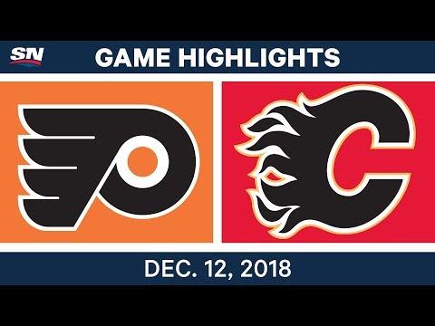 NHL Highlights  Flyers vs. Flames - Dec 12, 2018