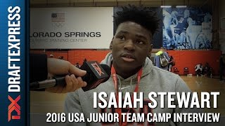 Isaiah Stewart Interview at USA Basketball Junior National Team Camp