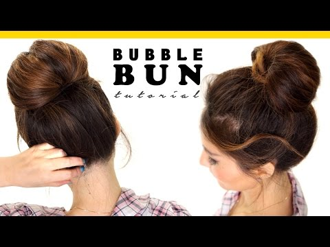 2-Minute BUBBLE BUN Hairstyle | Easy Hairstyles for Medium Long Hair