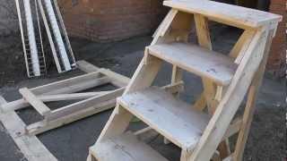 Изготовление лестницы для отделочных работ
