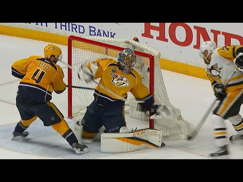 Video: Hornqvist banks goal off Rinne to score late Stanley Cup winner