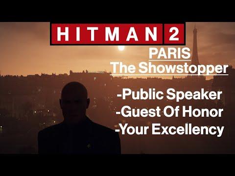 Hitman 2: Paris - The Showstopper - Public Speaker, Guest Of Honor, Your Excellency