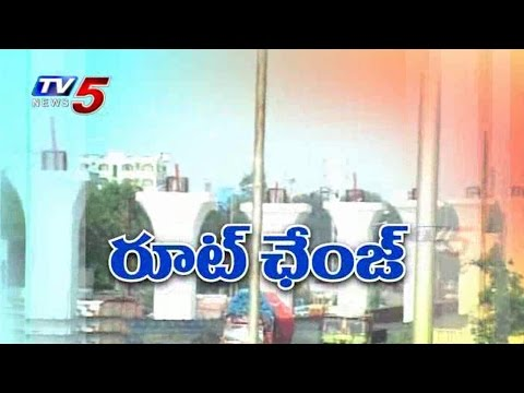 Changes in Hyderabad Metro Route : TV5 News