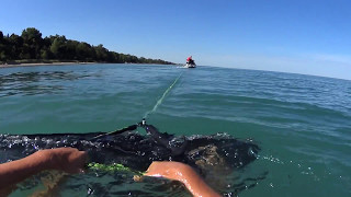5. Wakeskate behind Sea Doo wake 155