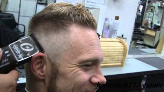 Fade Frohawk haircut | #1 into Frohawk | by Angel the Barber | 2014 mens hairstyle