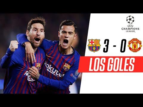 FC Barcelona - Manchester United [3-0] | GOLES | Cuartos de final (VUELTA) | UEFA Champions League