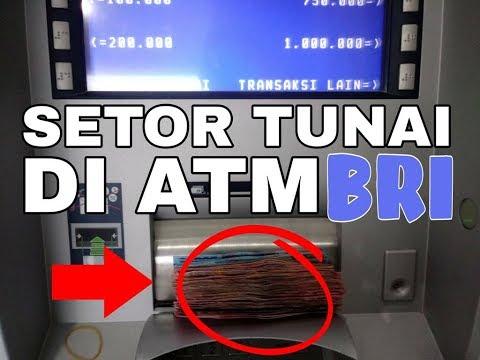 Setor Uang Tunai di ATM BRI