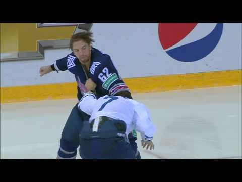 KHL Fight: Osala VS Lisin / Бой КХЛ: Осала VS Лисин (видео)