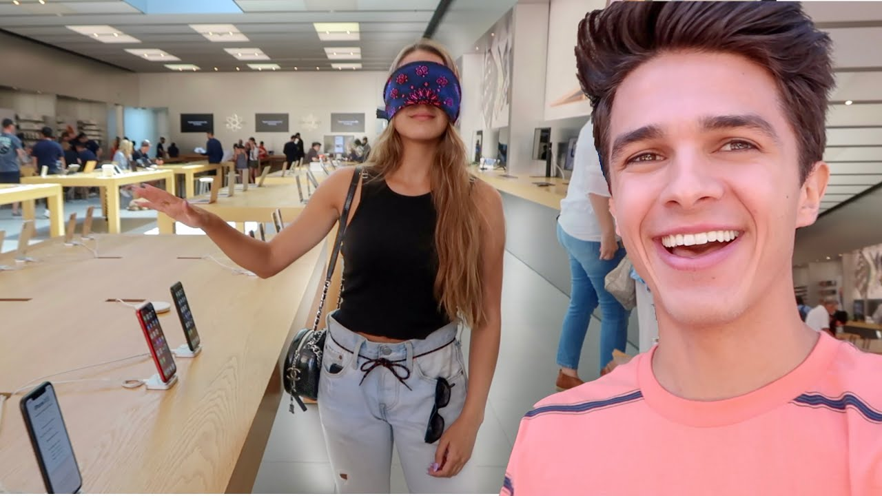 Buying EVERYTHING My Sister Touches Blindfolded! | Brent Rivera - YouTube
