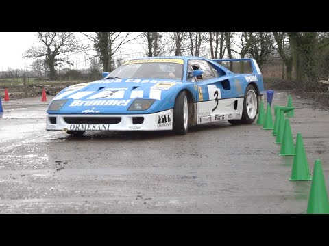 Watch Ferrari F40 flat out on farm roads