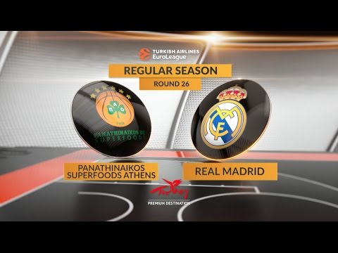 EuroLeague Highlights RS Round 26: Panathinaikos Superfoods Athens 88-82 Real Madrid