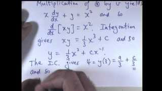 How to solve linear differential equations