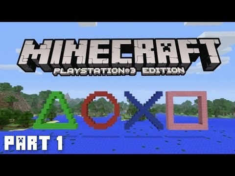 Minecraft PS3 Adventure Part 1 (Playstation 3 Minecraft)