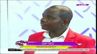 Gifted: Violinist Brian Mugenyi shows his talent on KTN's Tukuza Show