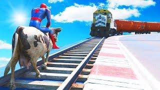 GTA 5 Water Ragdolls | Crazy SPIDERMAN Jumps/Fails #27 (Euphoria Physics, Funny Moments, Ragdoll)