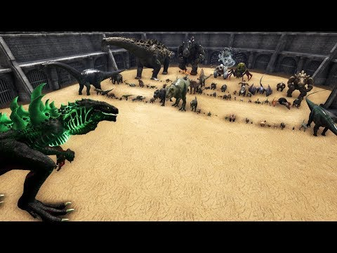 Godzillark vs All Creatures in ARK || Cantex