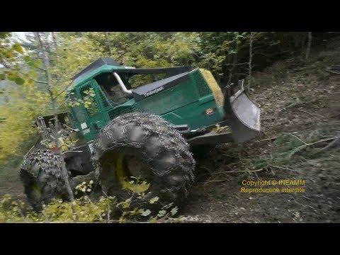 TIMBERJACK 240 SKIDDER debardage en montagne [HD]