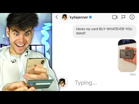 Sending 100 CELEBRITIES My CREDIT CARD *They Used It*