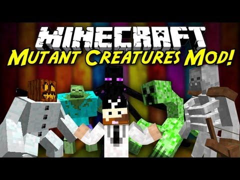CavemanFilms - HOLY CRAP A NEW MOD SHOWCASE INVOLVING A SKELETON ON STEROIDS! Can I get a like for that cutscene in the beginning? The Mutant Creeper mod is fully of freaks...