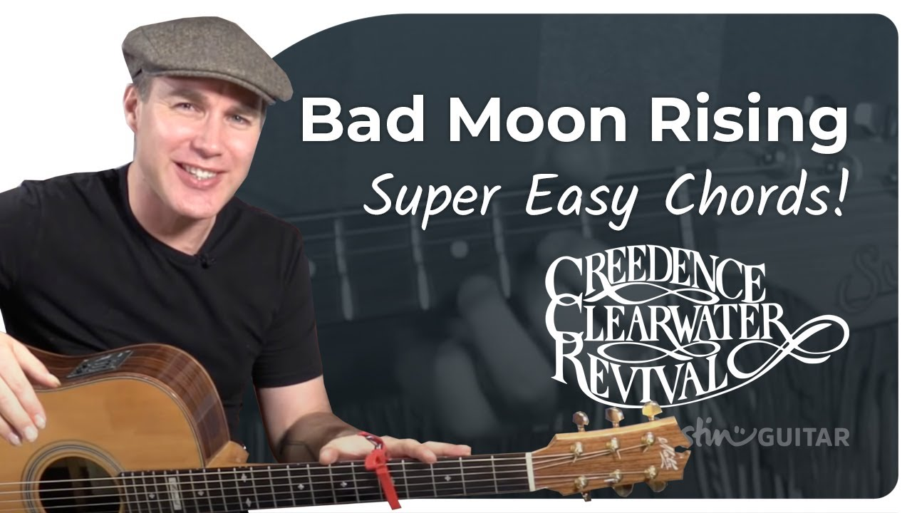 Bad Moon Rising – Creedence Clearwater Revival – Very Easy Beginner Song Guitar Lesson (BS-121)