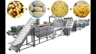 1 ton/h Fully Automatic French Fries Production Line| Finger Potato Chips Making Machine