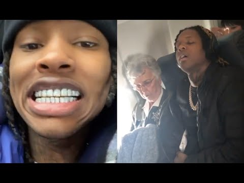 King Von Catches Lil Durk Lackin After Falling Asleep On Old Lady In Airplane