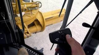 10. Cat 140M Motor Grader Controls