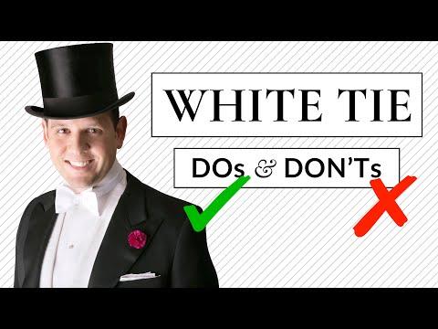 White Tie DO's & DON'Ts - Tailcoat & Full Fig Dress Code Guide