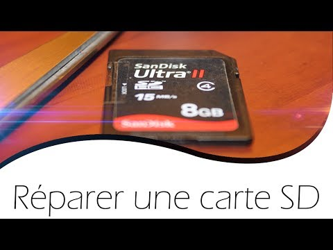 comment reparer carte sd