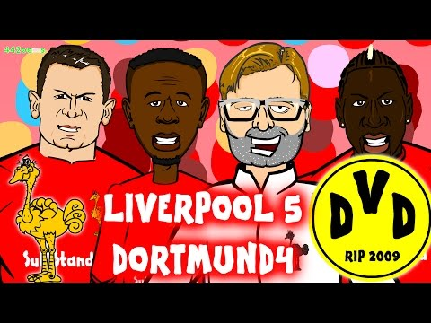 Liverpool Vs Borussia Dortmund 5-4 (4-3 Europa League Quarter Final Comeback Goals Highlights 2016)
