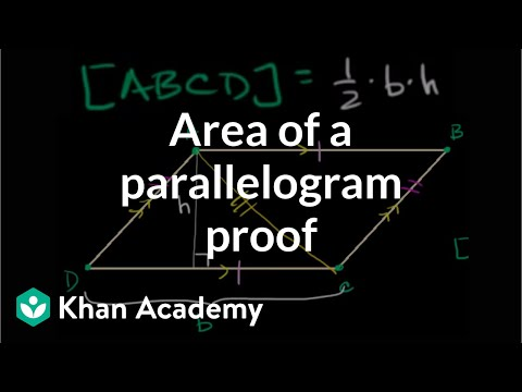 Area Of Parallelogram Proof Video Khan Academy