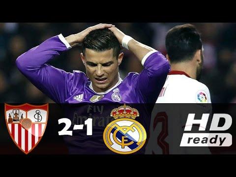 Sevilla vs Real Madrid 2-1 - All Goals & Extended Highlights - La Liga 15/01/2017 HD