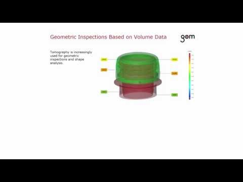 GOM Software 2016 - Import of Volume Data from CT Scanners