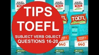 Subject, Verbs, and Objects (Q16-Q20)